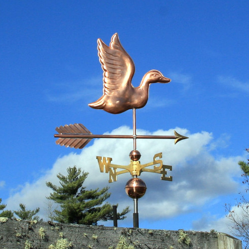 duck weathervane right side