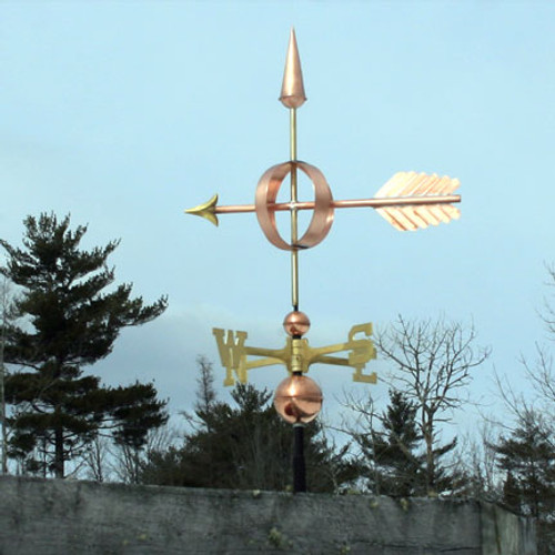 arrow sphere weathervane