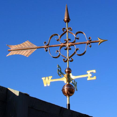 large fancy arrow weathervane