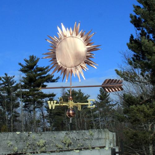 large sun weathervane