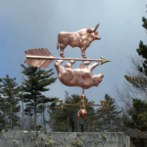 Bull and Bear Weathervane