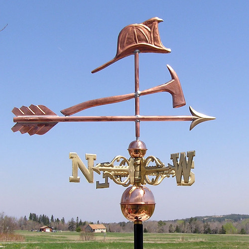 Fire Hat and Axe Weathervane