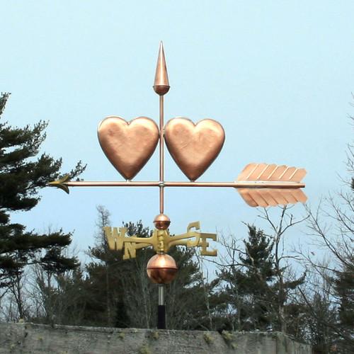 Two Hearts Weathervane