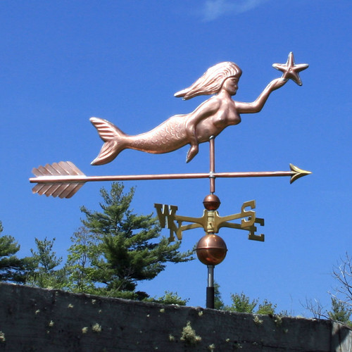 Mermaid with Star Weathervane