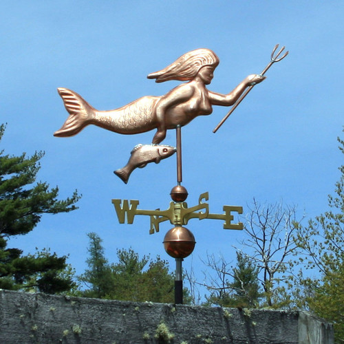 Mermaid with Spear and Fish Weathervane