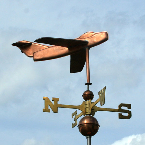 Snubnose Jet Airplane Weathervane
