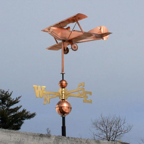 Biplane-Airplane Weathervane