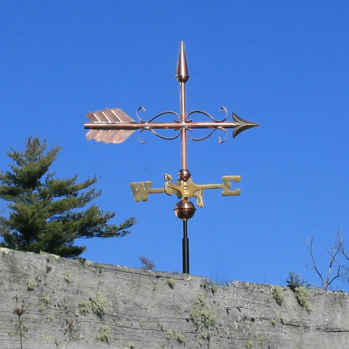 Scrolled Arrow Weathervane