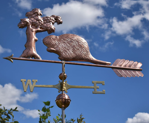Beaver and Tree Weathervane