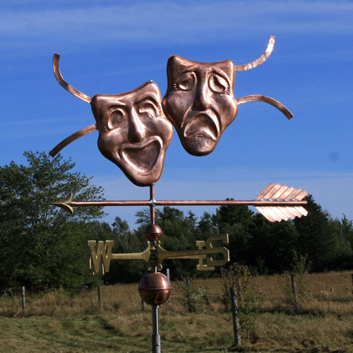 Theatre Mask Weathervane