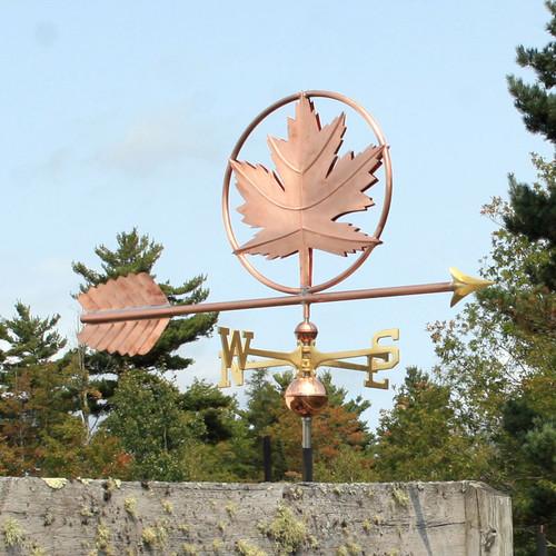 Maple Leaf Weathervane
