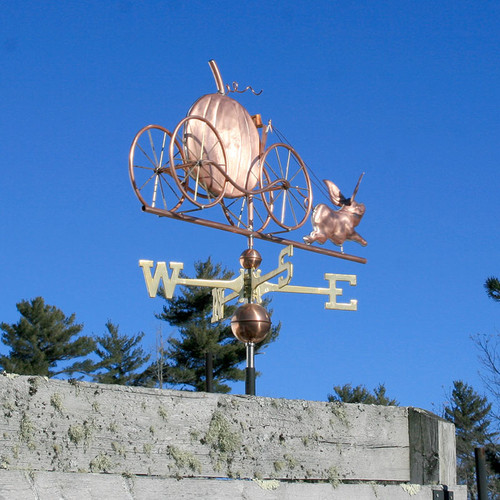 Pig and Pumpkin Carriage Weathervane