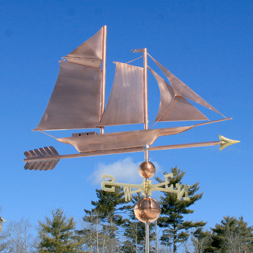 Skip Jack Sailboat Weathervane