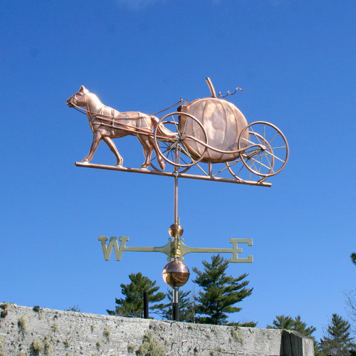 Horse and Pumpkin Carriage Weathervane - 785