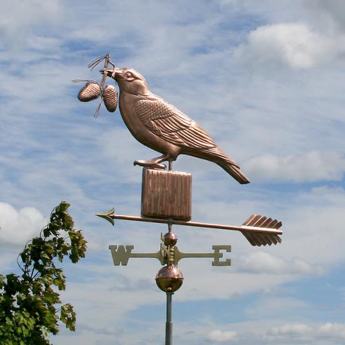 Crow with Pine Cones Weathervane - 793
