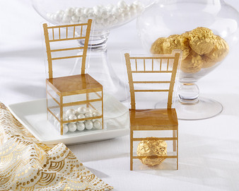 Gold Chiavari Gold Chair Favor Box (Set of 11)
