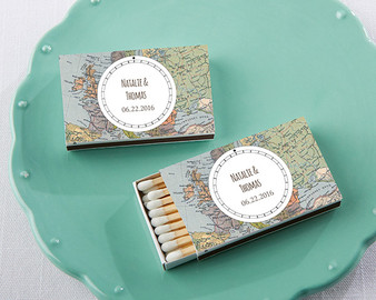 Personalized White Matchboxes - Travel
