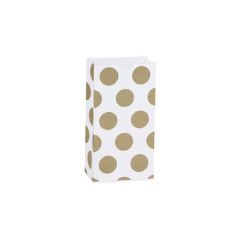 Gold Dots Gift Sack 4-1/4x2-3/8x8-3/16