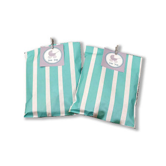 Striped Bag with Carriage Tag & Clip
