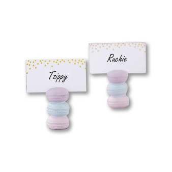 MACARON PLACE CARD HOLDER (SET OF 6) (Custom Place cards available upon request)