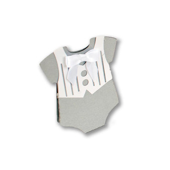 Baby boy onesie favor box/lollipop wrap