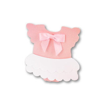 Baby girl onesie favor box/lollipop wrap
