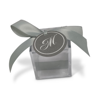 Acrylic Box with ribbon & tag (Specify tag & ribbon color)
