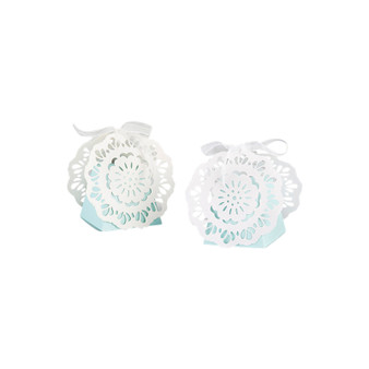 BLUE LACE FAVOR BOX (SET OF 12)