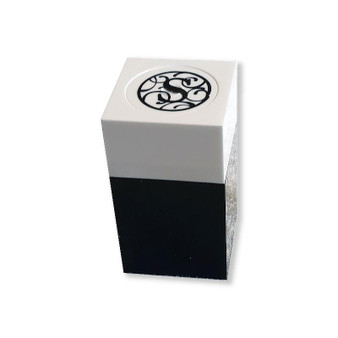 Acrylic Black & White Monogrammed Favor Boxes