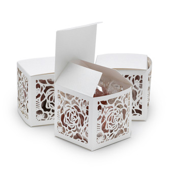 Rose Lasercut Favor Box (Personalization is available)