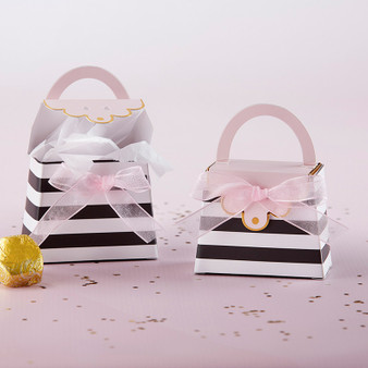 STRIPED PURSE FAVOR BOX (SET OF 12)