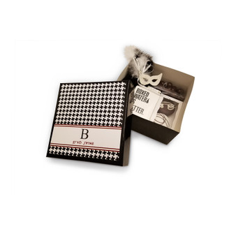 Black 6x6x3 Gift Box with Optional Houndstooth Label