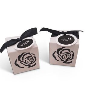 Lasercut Rose Favor Boxes, Includes Ribbon & Personalized Tag, Additional Colors Available