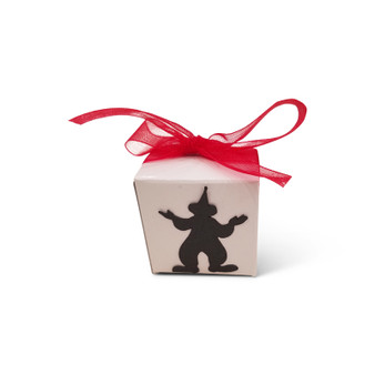 Clown Favor Box, Additional colors available & can be personalized upon request, Ribbon is optional.