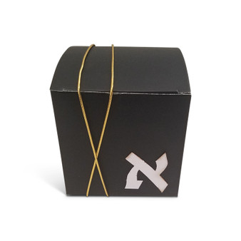 Personalized Black Upsherin Box with Gold Cord (Additional Colors Available Upon Request)
