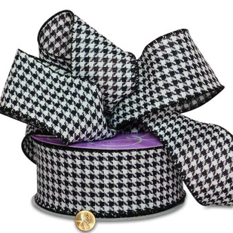 "Houndstooth 2.5"" Ribbon 25yds."