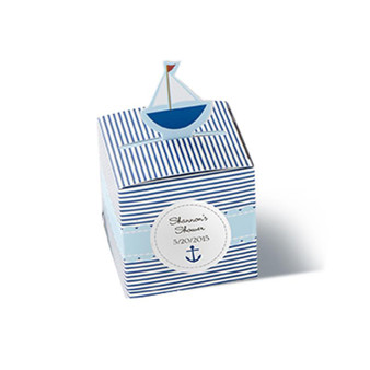 """""""Baby on Board!"""" Pop-Up Sailboat Favor Box (Set of 24) (Available Personalized)"""