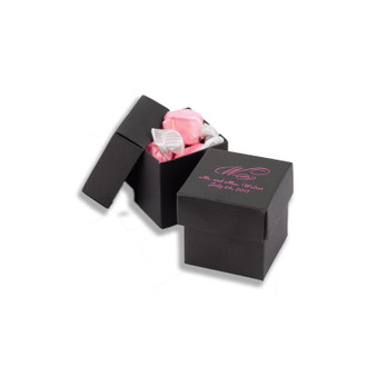 Personalized Black 2 piece Favor Boxes (Minimum 25)