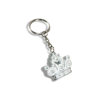 """""""Queen for a day"""" Sparkling Tiara keychain favor."""