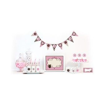 Pink Baby Shower Decorations Starter Kit