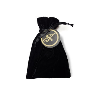 Velvet Bags with optional monogrammed tag