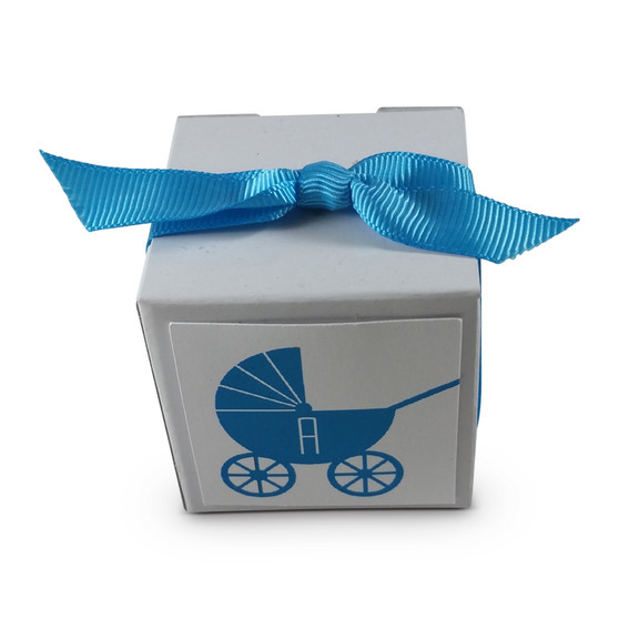 Monogrammed Baby Carriage Favor Box (Ribbon Sold Separately) More colors available!