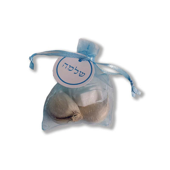 Organza Pidyon Haben Favor Bags with Personalized Tag (Garlic & Sugar Not Included)