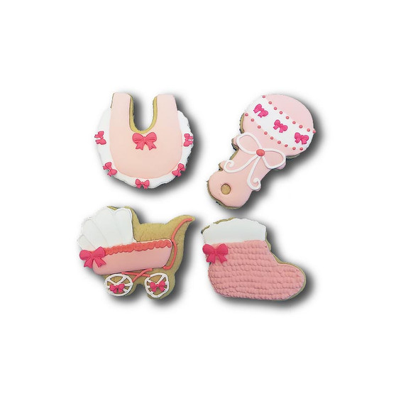 New Baby Collection Custom Cookies (Available in any color) One line of text only!