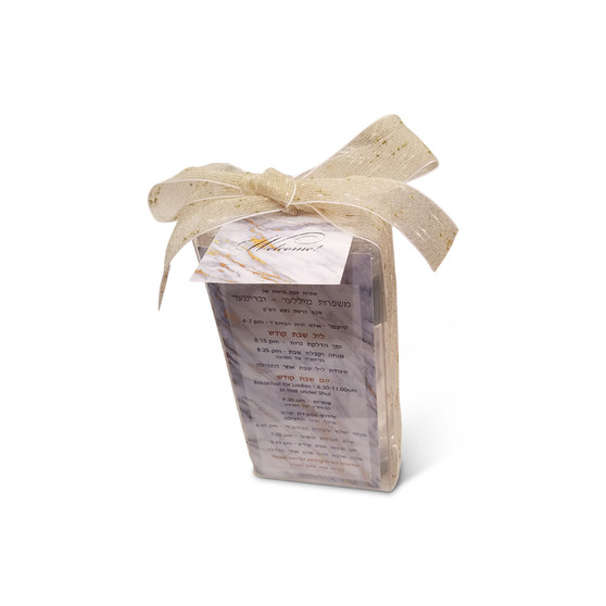Gold Marble Plastic Welcome Box