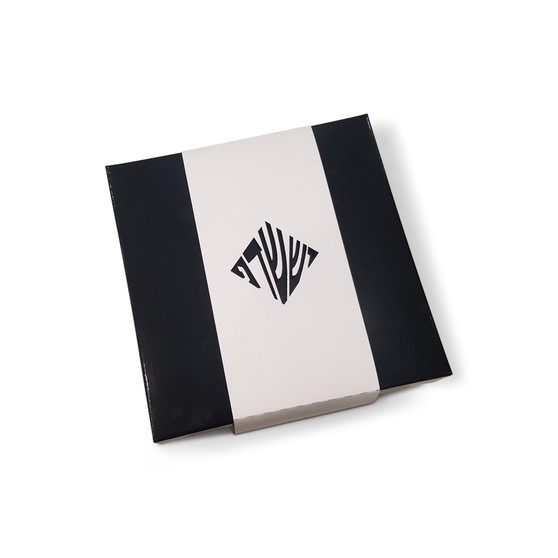 Black Box with White Monogrammed Wrap Welcome Box (Additional Colors Available)
