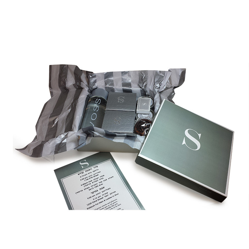 Classic Grey With White Border Monogrammed Guest Packages