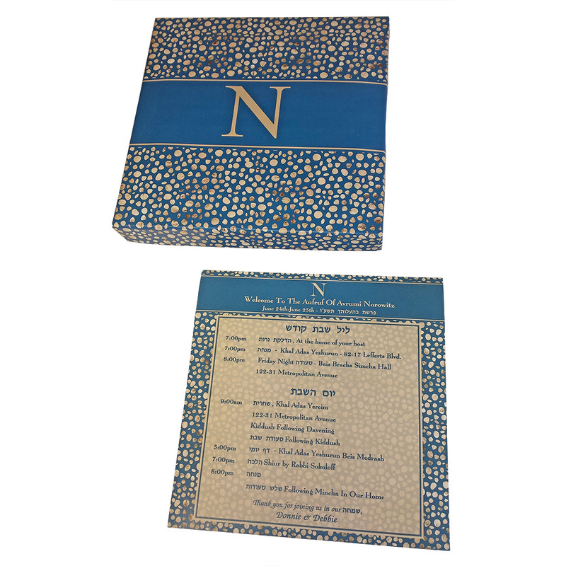 Geometric Foil Dots Navy & Gold Welcome Package