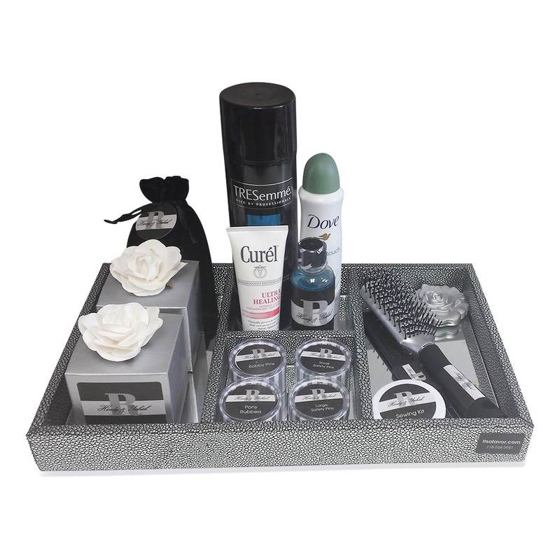 Grey Metallic Wedding Amenity Tray