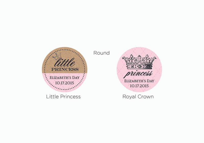 Personalized Gold Round Candy Tin - Little Princess (Set of 12)